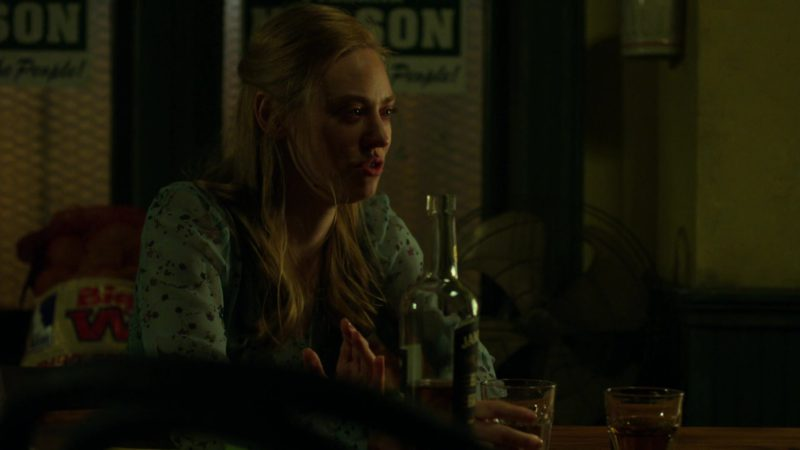 "Jameson Black Barrel Whiskey Drunk by Deborah Ann Woll in Daredevil: Season 3 Episode 6 ""The Devil You Know"" (2018) - TV Show Product Placement"