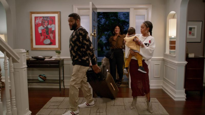 "Louis Vuitton (LV) Luggage Bag in Black-ish: Season 5, Episode 1, ""Gap Year"" (2018) - TV Show Product Placement"