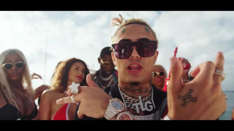 """Louis Vuitton (LV) Sunglasses Worn by Lil Pump in """"Kept Back"""" by Gucci Mane (2018) - Official Music Video Product Placement"""
