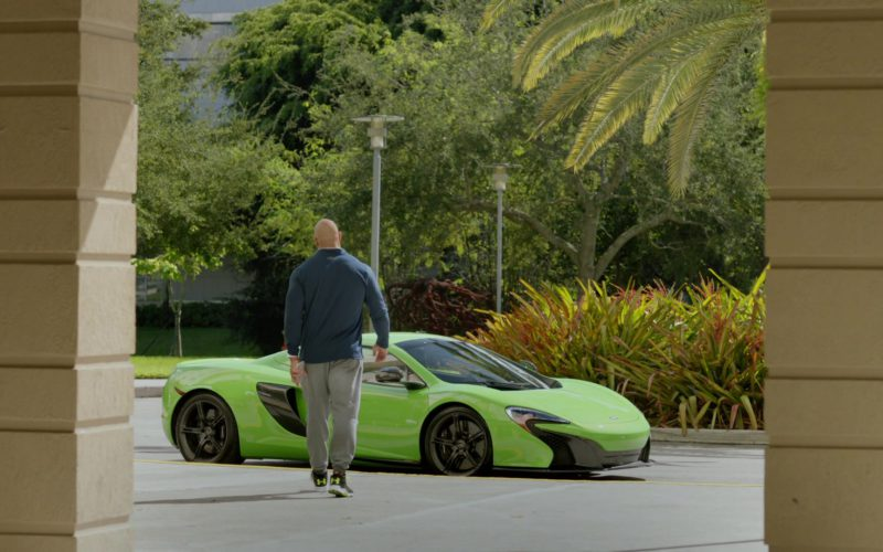 Mclaren Green Sports Car in Ballers