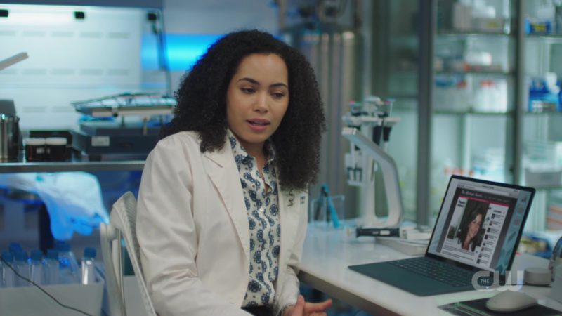 """Microsoft Surface Laptop Used by Madeleine Mantock (Macy Vaughn) in Charmed: Season 1, Episode 1, """"Pilot"""" (2018) TV Show Product Placement"""