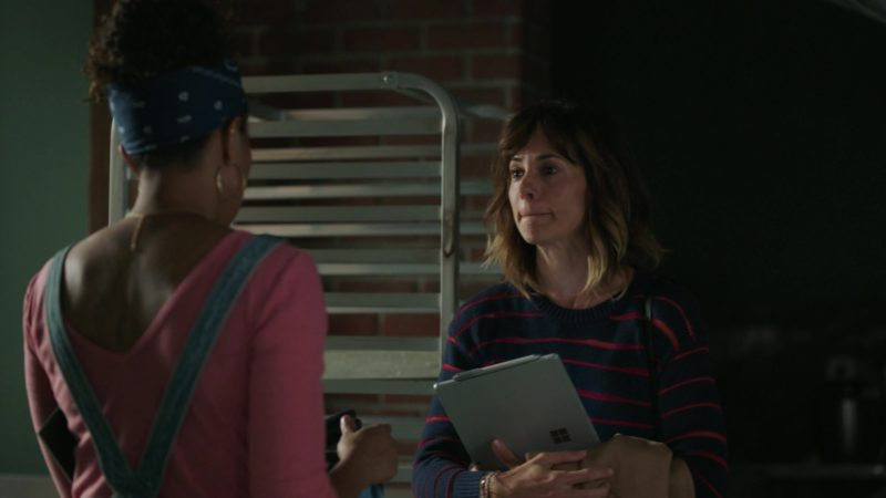 "Microsoft Surface Tablet Used by Stephanie Szostak in A Million Little Things: Season 1, Episode 4, ""Friday Night Dinner"" (2018) TV Show Product Placement"