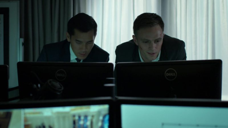 """Monitors by Dell in Daredevil: Season 3 Episode 4 """"Blindsided"""" (2018) - TV Show Product Placement"""
