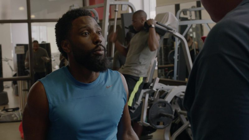 "Nike Blue T-Shirt Worn by John David Washington in Ballers: Season 1, Episode 7, ""Ends"" (2015) - TV Show Product Placement"