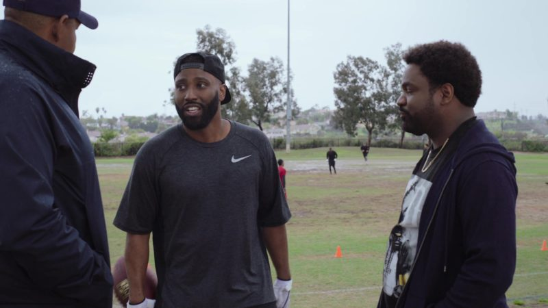 "Nike Cap and T-Shirt Worn by John David Washington in Ballers: Season 4, Episode 6, ""No Small Talk"" (2018) TV Show Product Placement"