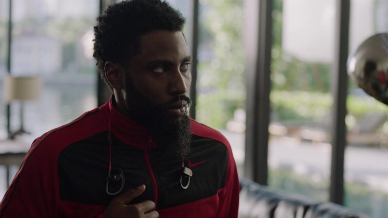 "Nike Jacket and Beats Powerbeats Wireless Earphones Worn by John David Washington (Ricky) in Ballers: Season 1, Episode 2, ""Raise Up"" (2015) TV Show Product Placement"