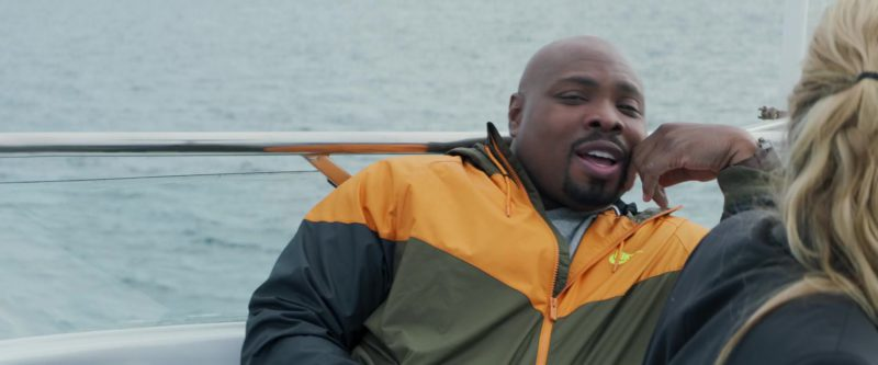 Nike Orange-Black Jacket Worn by Page Kennedy in The Meg (2018) Movie Product Placement