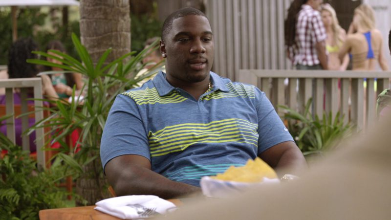 "Nike Striped Polo Shirt Worn by Donovan Carter (Vernon) in Ballers: Season 1, Episode 5, ""Machete Charge"" (2015) TV Show Product Placement"