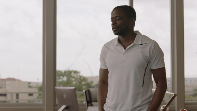 "Nike White Polo Shirt Worn by Dulé Hill in Ballers: Season 1, Episode 4, ""Heads Will Roll"" (2015) - TV Show Product Placement"