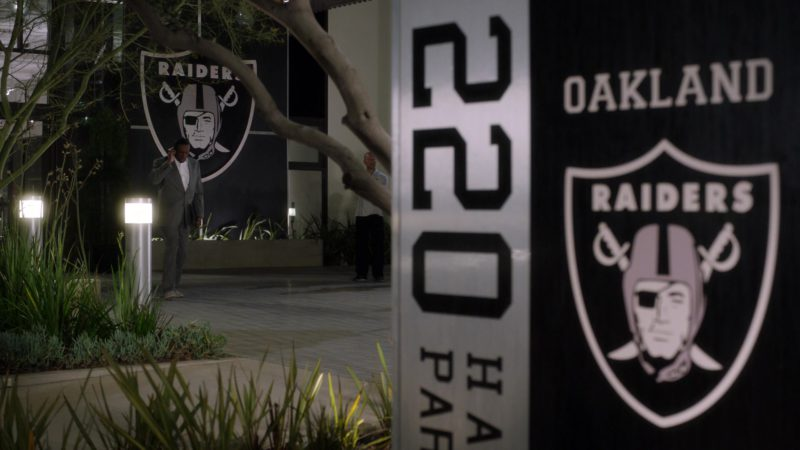 """Oakland Raiders (Office Address: 1220 Harbor Bay Pkwy, Alameda, CA 94502, USA) in Ballers: Season 3, Episode 3, """"In the Teeth"""" (2017) TV Show Product Placement"""