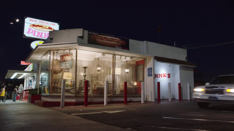 Pink's Hot Dogs Restaurant in My Dinner with Hervé (2018) Movie Product Placement