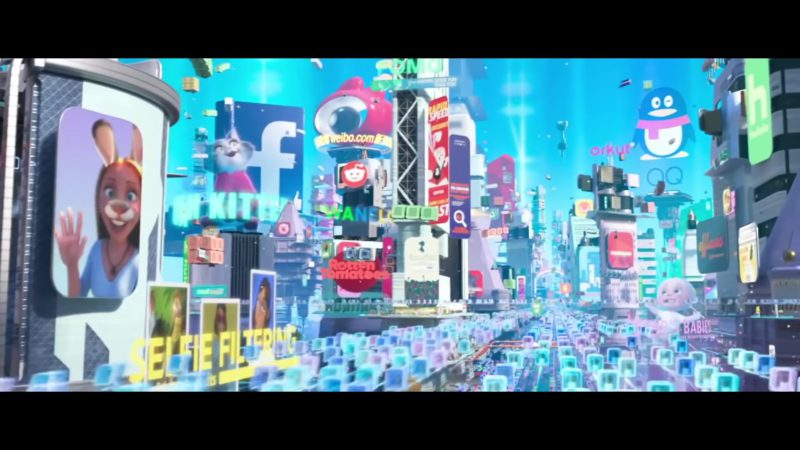 Rotten Tomatoes, Facebook, Weibo.com, Orkut in Ralph Breaks the Internet (2018) Animation Movie Product Placement