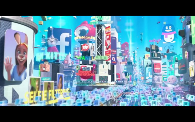 Rotten Tomatoes, Facebook, Weibo.com, Orkut in Ralph Breaks the Internet