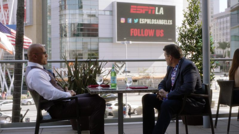 """S.Pellegrino Water and WatchESPN Billboard in Ballers: Season 3, Episode 3, """"In the Teeth"""" (2017) TV Show Product Placement"""