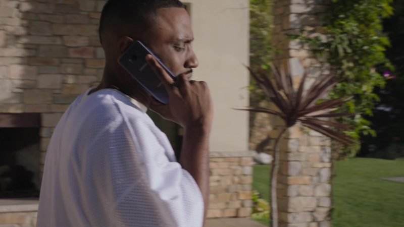 "Samsung Galaxy Smartphone Used by John David Washington (Ricky) in Ballers: Season 4, Episode 2, ""Don't You Wanna Be Obama?"" (2018) TV Show Product Placement"