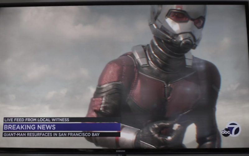 Samsung TV and ABC7 News in Ant-Man and the Wasp (2)