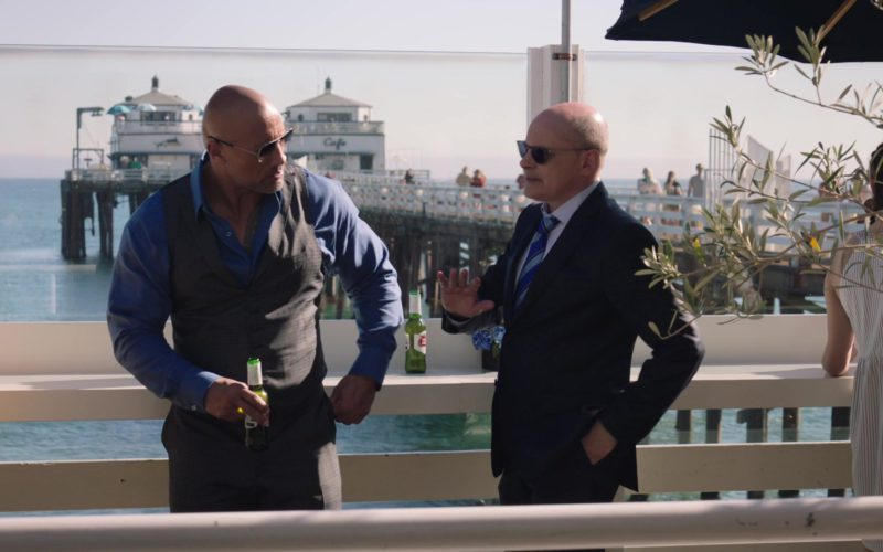 Stella Artois Beer Drunk by Dwayne Johnson and Rob Corddry in Ballers (1)