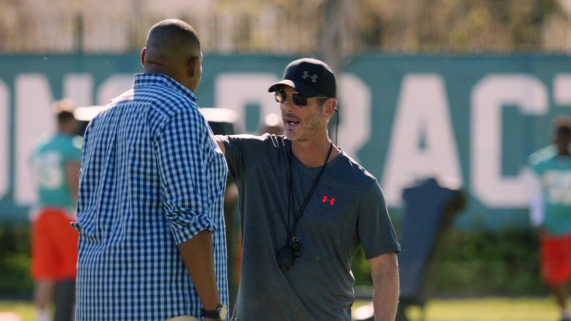 """UA T-Shirt and Cap in Ballers: Season 3, Episode 3, """"In the Teeth"""" (2017) TV Show Product Placement"""