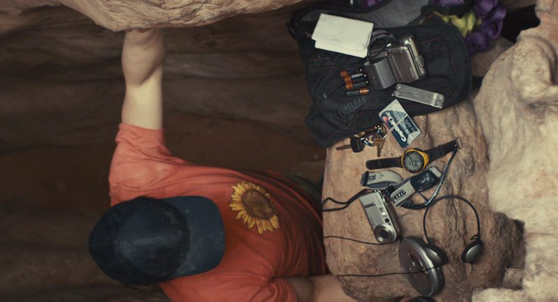 Sony Cybershot Photo Camera, Canon Camcorder, Capital One Card, Petzl and Suunto Wrist Watch in 127 Hours (2010) Movie Product Placement