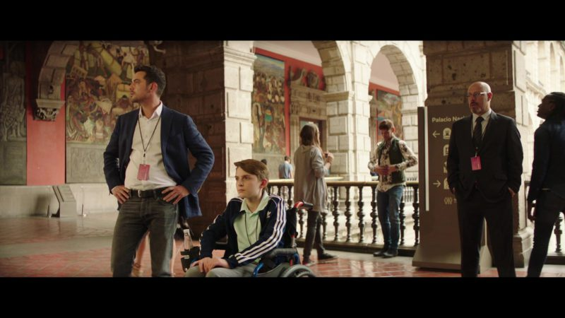 Adidas Boys Blue Sports Jacket in The Romanoffs Season 1 Episode 6: Panorama (2018) TV Show Product Placement