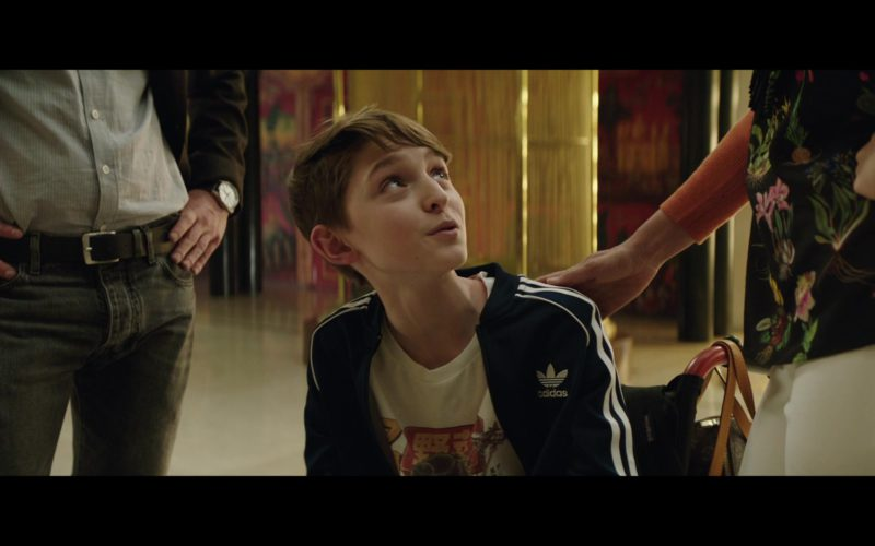 Adidas Boys Blue Sports Jacket in The Romanoffs Season 1 Episode 6 (8)