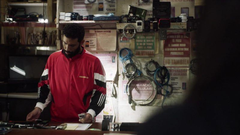 """Adidas Men's Red Sports Jacket in StartUp: Season 3 Episode 2 """"Sweat Equity"""" (2018) TV Show Product Placement"""