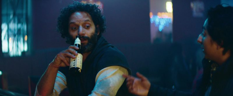 Alamo Beer Drunk by Jason Mantzoukas in The Long Dumb Road (2018) Movie Product Placement