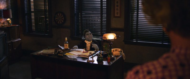 Ancient Age Bourbon Whiskey in The Happytime Murders (2018) Movie Product Placement