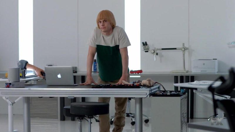 Apple MacBook Pro Laptop Used Evan Peters in American Horror Story Season 8 Episode 9: Fire and Reign (2018) TV Show Product Placement
