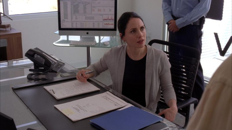 Apple iMac Computer Used by Laura Fraser (Lydia Rodarte-Quayle) in Breaking Bad Season 5 Episode 4: Fifty-One (2012) TV Show Product Placement