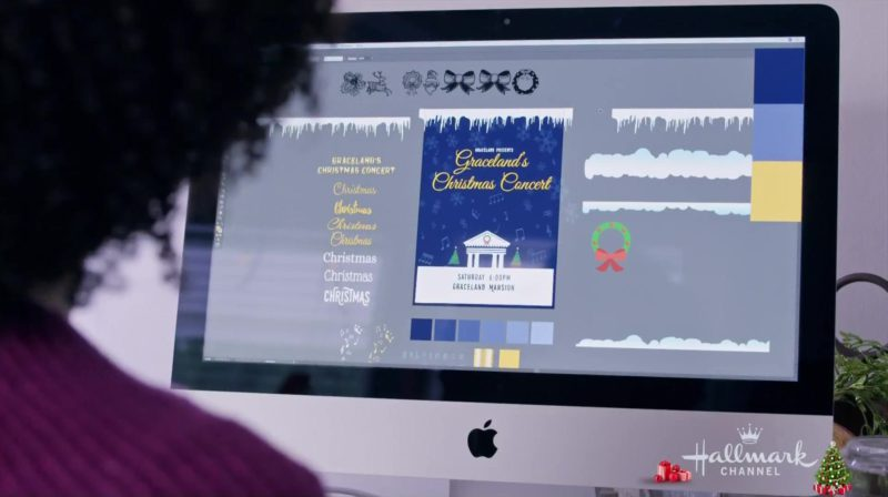 Apple iMac Computer Used by Tamara Austin in Christmas at Graceland (2018) Movie Product Placement