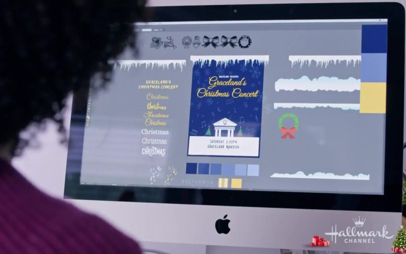 Apple iMac Computer Used by Tamara Austin in Christmas at Graceland