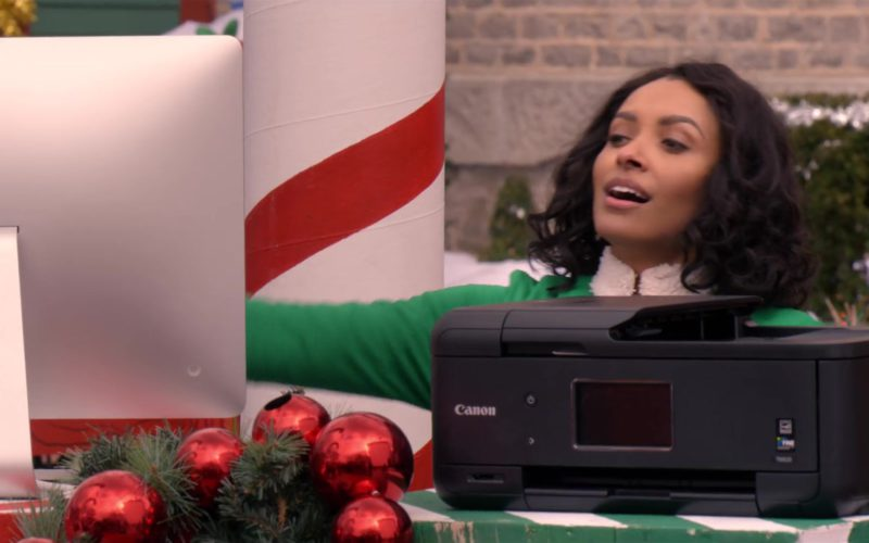 Apple iMac Computer and Canon Printer Used by Kat Graham in The Holiday Calendar (1)