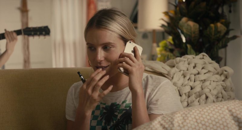 "Apple iPhone Mobile Phone Used by Dree Hemingway in ""In A Relationship"" (2018) Movie Product Placement"