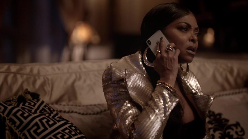 Apple iPhone X Cell Phone Used by Used by Taraji P. Henson (Cookie Lyon) in Empire Season 5 Episode 6: What Is Done (2018) TV Show Product Placement