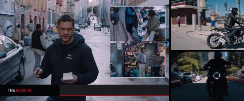 Arc'teryx Hoodie Worn by Tom Hardy in Venom (2018) Movie Product Placement