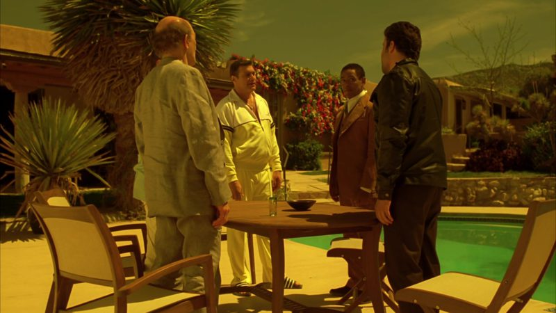 """Sergio Tacchini Men's White Tracksuit in Breaking Bad Season 4 Episode 8 """"Hermanos"""" (2011) TV Show Product Placement"""