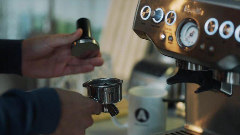 "Breville Barista Express Espresso Machine in StartUp: Season 3 Episode 4 ""Depreciation"" (2018) - TV Show Product Placement"