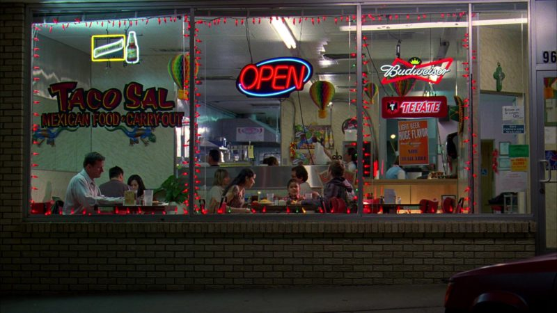 Budweiser and Tecate Beer Signs in Breaking Bad Season 3 Episode 11: Abiquiu (2010) - TV Show Product Placement