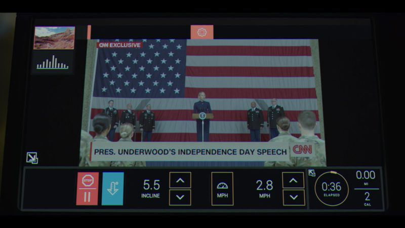 CNN Television Channel in House of Cards Season 6 Episode 1 Chapter 66 (2018) - TV Show Product Placement