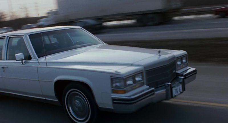 Cadillac Fleetwood Brougham White Car Used by Paul Newman in The Color of Money (1986) Movie Product Placement