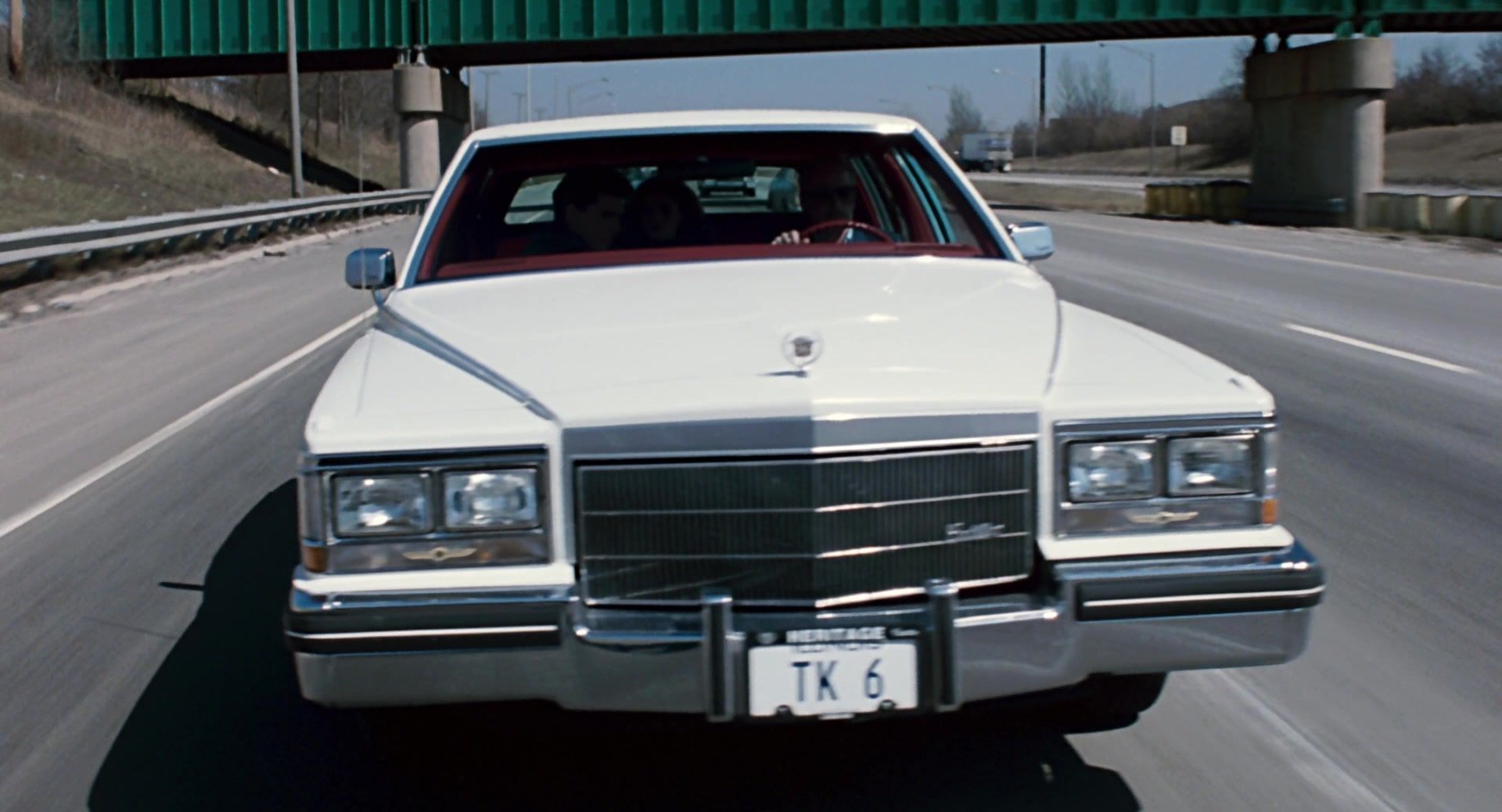 Cadillac Fleetwood Brougham White Car Used by Paul Newman in The Color of Money (1986) Movie