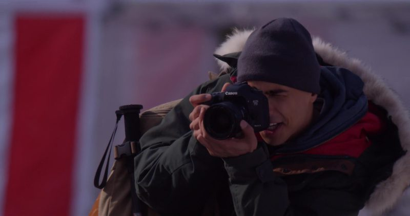 Canon 7D EOS Digital SLR Camera Used by Quincy Taylor Brown in The Holiday Calendar (2018) Movie Product Placement