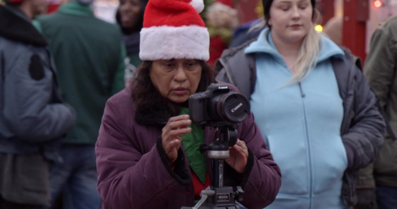 Canon EOS Camera Used by Woman in The Holiday Calendar (2018) Movie Product Placement