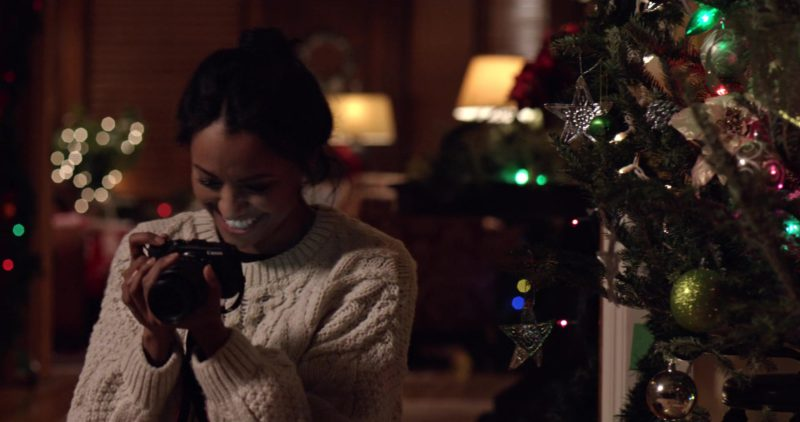 Canon Photography Camera Used by Kat Graham in The Holiday Calendar (2018) - Movie Product Placement