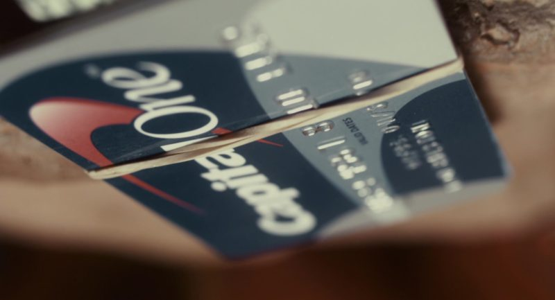 Capital One Card in 127 Hours (2010) Movie Product Placement