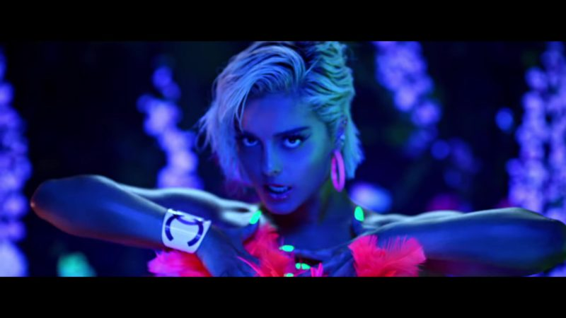 "Chanel White CC Cuff Bracelet Worn by Bebe Rexha in ""Say My Name"" (2018) Official Music Video Product Placement"