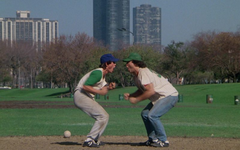 Converse Baseball Cleats Worn by Rob Lowe and Jim Belushi in About Last Night