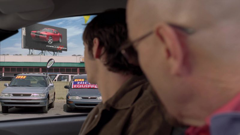 "Dodge Challenger Muscle Car Billboard in Breaking Bad Season 4 Episode 6 ""Cornered"" (2011) TV Show Product Placement"