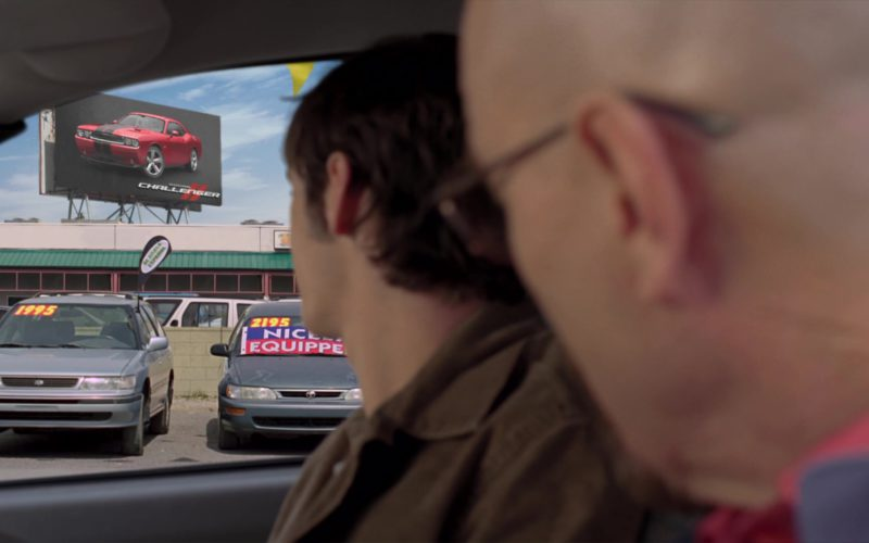 Dodge Challenger Muscle Car Billboard in Breaking Bad Season 4 Episode 6 (1)
